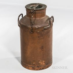 Tall Copper Milk Can