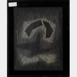Mon Levinson (American, 1926-2014)      Black Moving Planes II