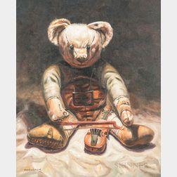 Continental School, 20th Century      Teddy Bear with Violin
