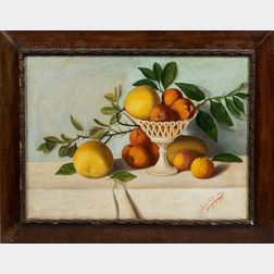 Spanish School, Early 20th Century      Still Life with Oranges and Grapefruit