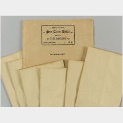 Shaker Butter Label with Six Envelopes