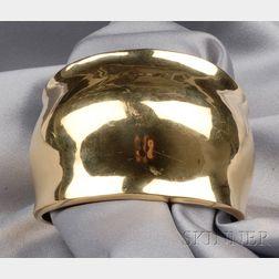 """18kt Gold """"Gamma"""" Cuff, Robert Lee Morris"""