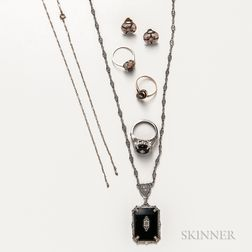 Group of Art Deco and Art Deco-style Jewelry