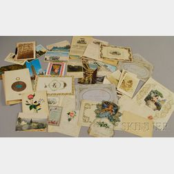 Group of Miscellaneous 19th and 20th Century Ephemera and Collectibles