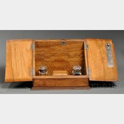 Victorian Brass-mounted Walnut Desk Box