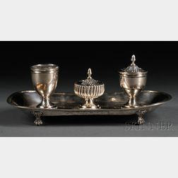 Coin Silver Inkstand