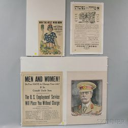 Ten Assorted Mostly U.S. WWI Lithograph Posters