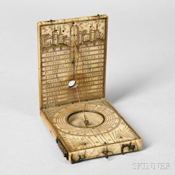 Conrad Karner Ivory Diptych Sundial