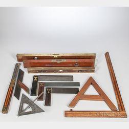 Eleven 19th Century Carpenter's Squares