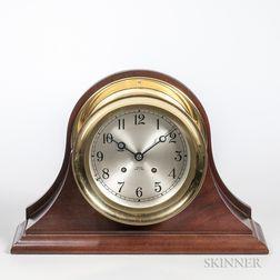 Chelsea Ship's Bell Brass Mantel Clock
