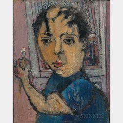 Zero Mostel (American, 1915-1977)      Self Portrait