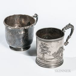 Two American Silver Cups
