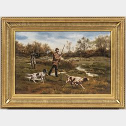 Anglo-American School, 20th Century    Bird Hunting with English Setters