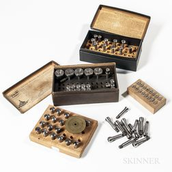 Collection of Miscellaneous Watchmaker's Collets.     Estimate $200-300