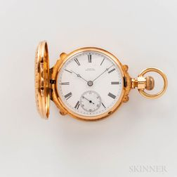 18 Size Appleton Tracy & Co. 18kt Gold Box-hinged Watch