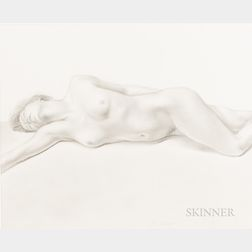 Martha Mayer Erlebacher (American, 1937-2013)      Drawing for Reclining Nude
