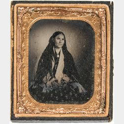 Tintype of a Young Native American Woman