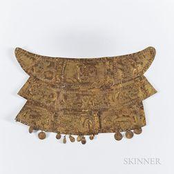 Pre-Columbian Copper Pectoral Ornament