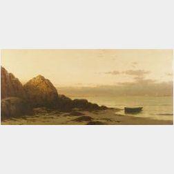 Alfred Thompson Bricher (American, 1837-1908)  Coastal View, Sunset