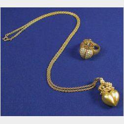 Two 18kt Gold Items, B. Kieselstein-Cord