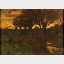 John Francis Murphy (American, 1853-1921)  Sunset