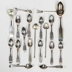 Group of Coin Silver and Sterling Silver Flatware