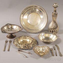 Twelve Assorted Sterling Silver Flatware and Tableware Items