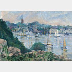 Selma Opler Münsterberg (American, 1867-1949)      The Quiet of the Harbor