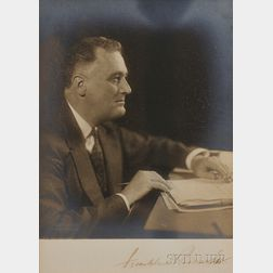 Roosevelt, Franklin D. (1882-1945) Signed Photograph, c. 1934.
