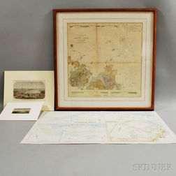 Six Maps and Engravings