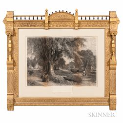 Elaborate Carved and Gilt-gesso Picture Frame and Print