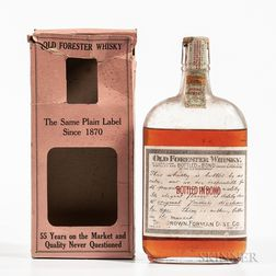 Old Forester 9 Years Old 1916, 1 pint bottle