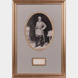Lee, Robert E. (1807-1870) Clipped Signature.
