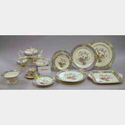 Eighty-nine Piece Lenox Ming Pattern Porcelain Dinner Service.
