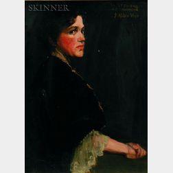 J. Alden Weir (American, 1852-1919)    Portrait of a Woman