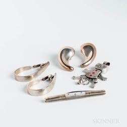 Group of Sterling Silver Jewelry and Accessories