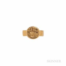 Gold Ring Depicting a Marriage Scene