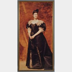 Large Photographic Reproduction of Duran's Portrait of Mrs. William Astor