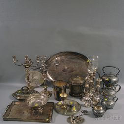 Large Group of Ornate Silver-plated Tableware