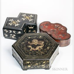 Three Lacquer Boxes