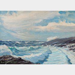 Emile Albert Gruppé (American, 1896-1978)      Morning Waves