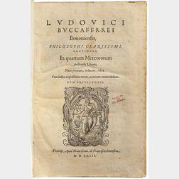 Buccaferrei, [aka Boccadiferro] Ludovici (1482-1545) Lectiones in Quartum Meteororum Aristotelis Librum.