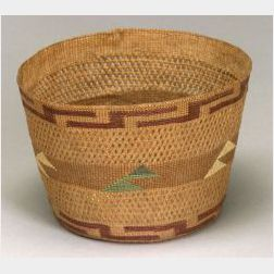 Northwest Coast Twined Polychrome Basket