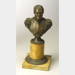 Bronze Bust of Napoleon with Sienna Marble Base