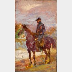 Attributed to William Gilbert Gaul (American, 1855-1919)    Study of a Union Cavalry Officer