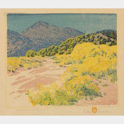 Gustave Baumann (German/American, 1881-1971)      Arroya Chamisa
