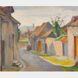 French School, 20th Century      Lot of Two French Village Streets