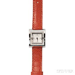 "Lady's 18kt White Gold and Diamond ""Swing"" Wristwatch, Van Cleef & Arpels"