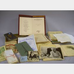 Lot of Miscellaneous 19th and Early 20th Century Ephemera and Collectibles