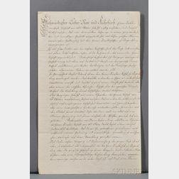 Joseph II, Holy Roman Emperor (1741-1790) Signed Letter.